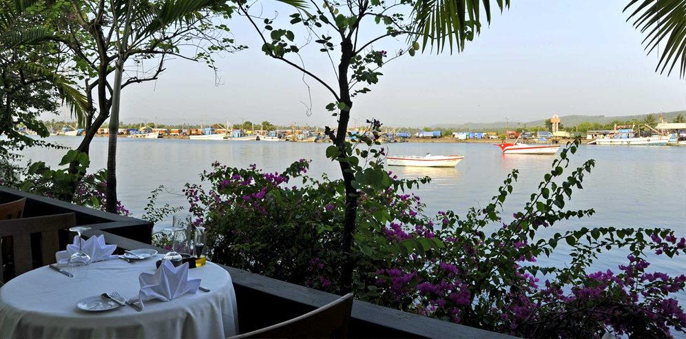 Italian Restaurant with River Views, The Leela, Mobor, South Goa