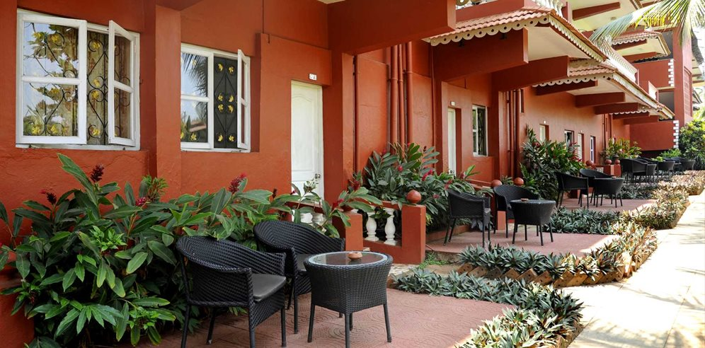 Rooms at the Chalston Beach Resort, Calangute, North Goa