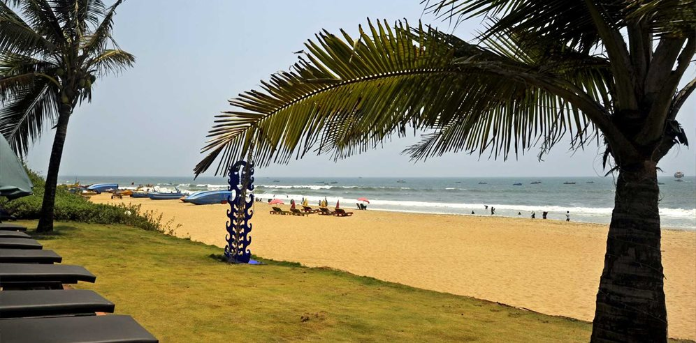 Lounging by the beach at the Chalston Beach Resort, Calangute, North Goa