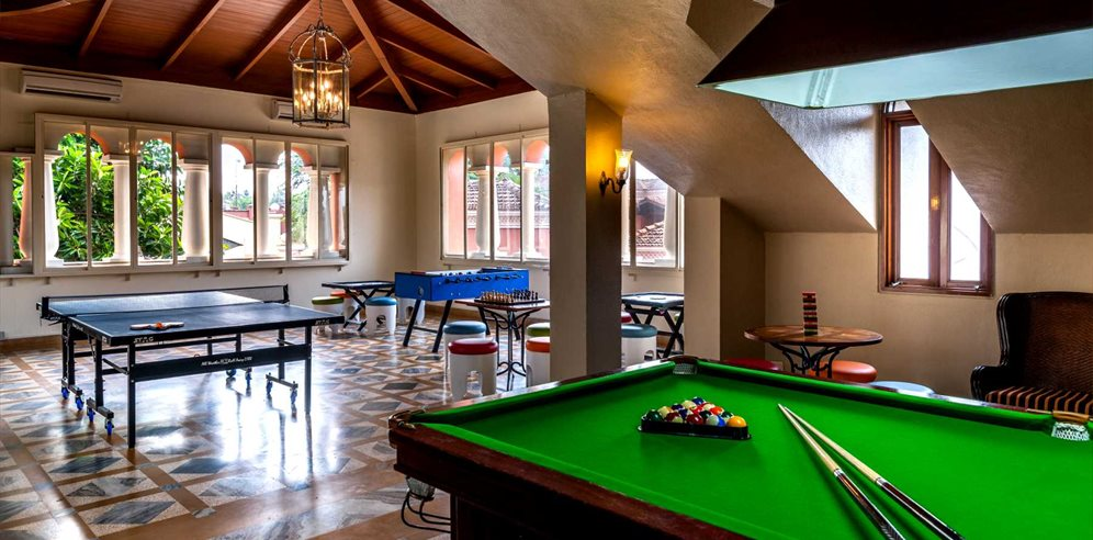Games room at Park Hyatt Goa Resort & Spa, Arossim, South Goa