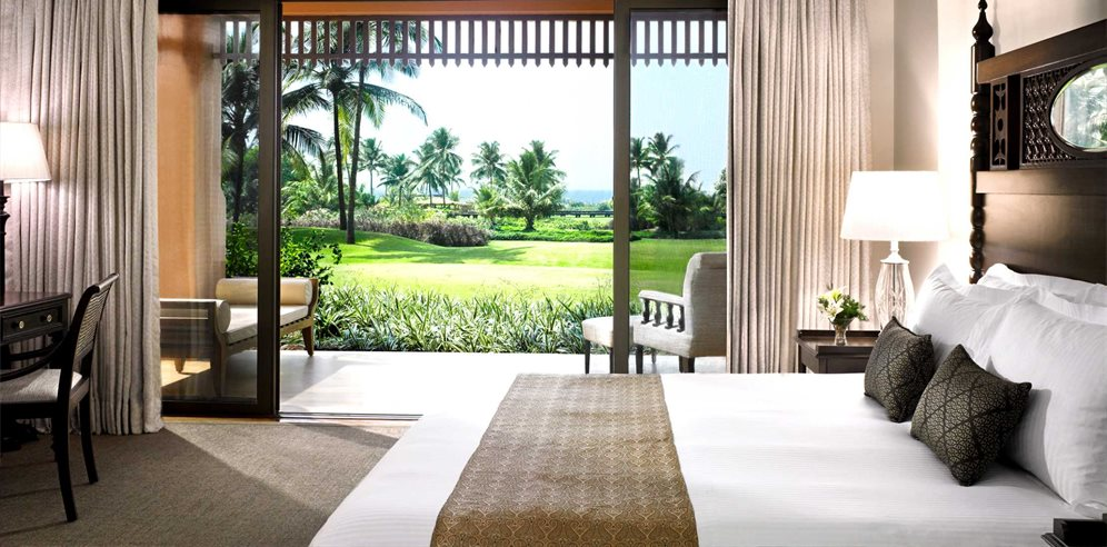 Sea View Room with views across the grounds and onto the Arabian Sea, Park Hyatt Goa Resort & Spa, Arossim, South Goa
