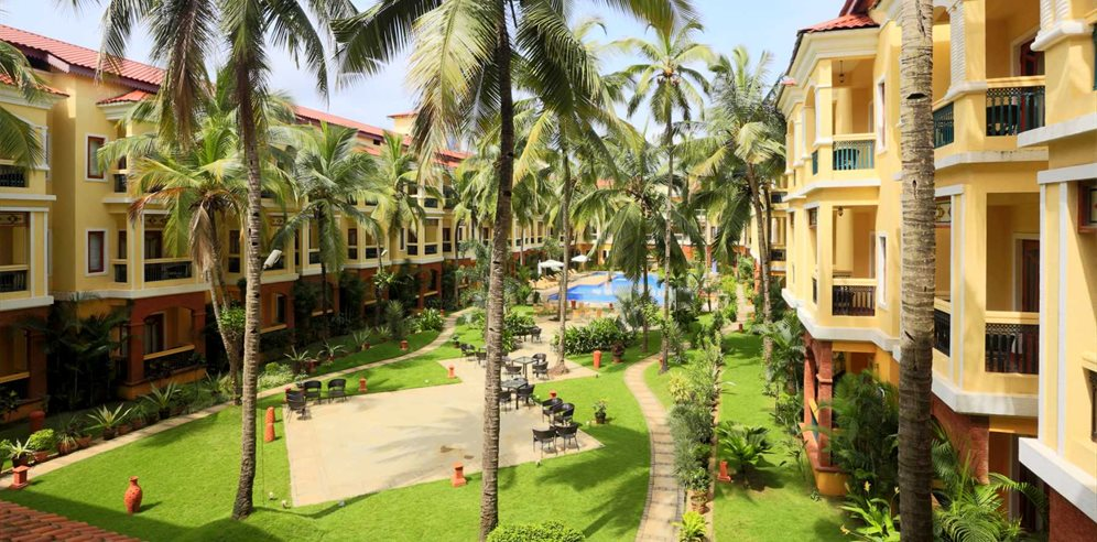 Beautiful Courtyard at Country Inn & Suites Candolim, North Goa