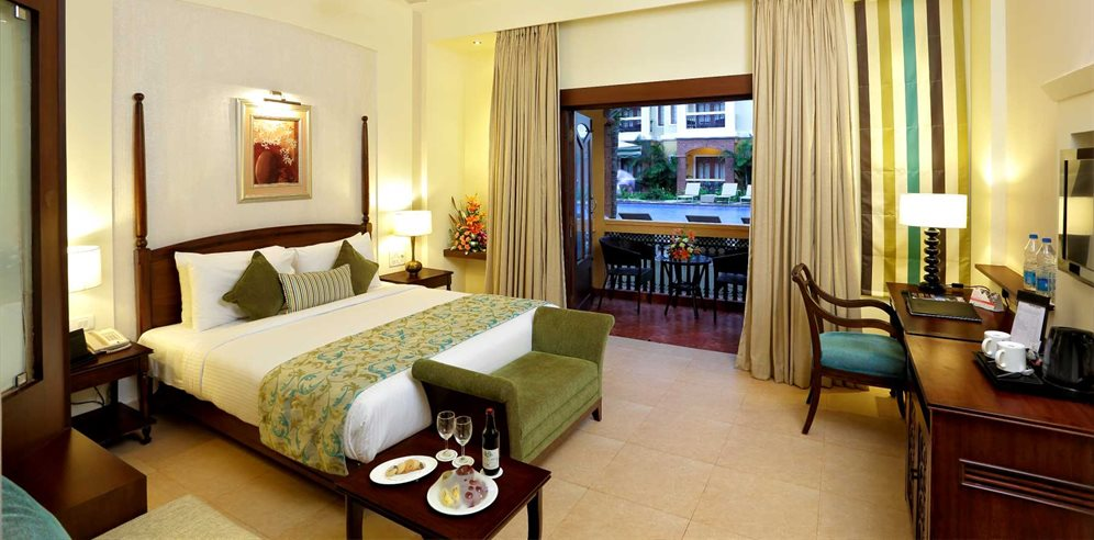 Deluxe Pool View Room at the Country Inn & Suites Candolim, North Goa