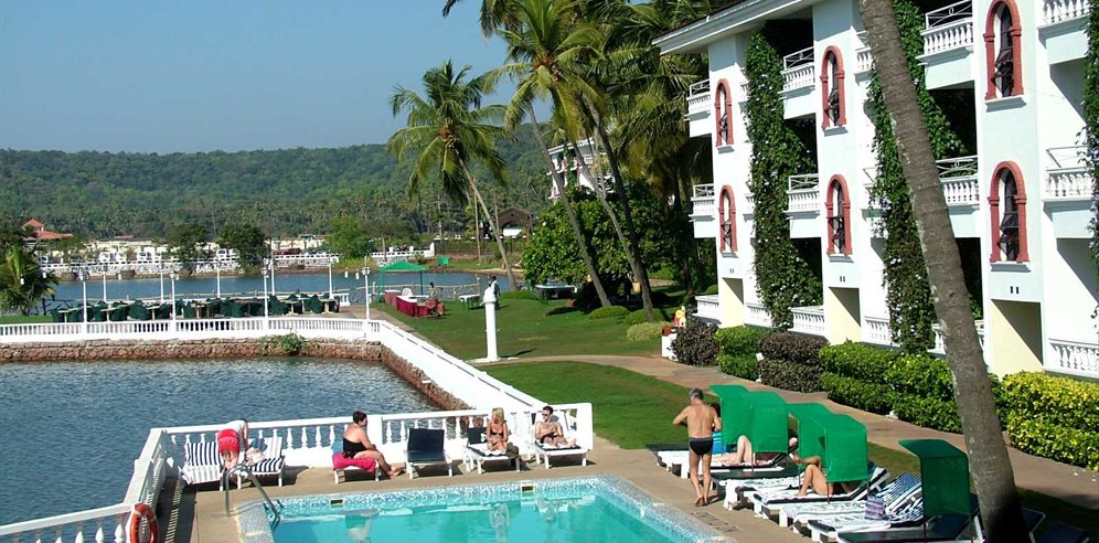 Swimming pool at Marinha Dourada, Arpora, North Goa