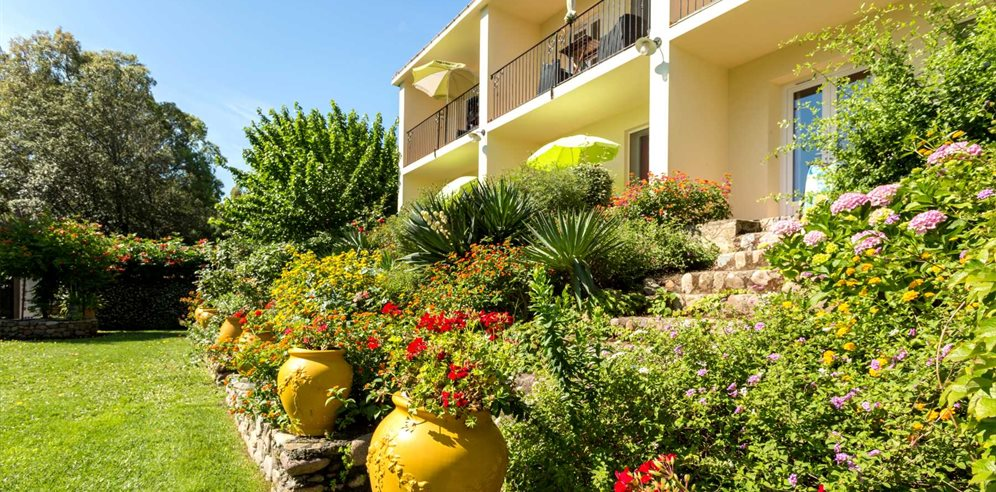 Shrubs and Apartment Building - Le Home - Calvi & la Balagne