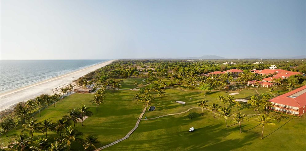 The extensive grounds at Caravela Beach Resort, Varca, South Goa