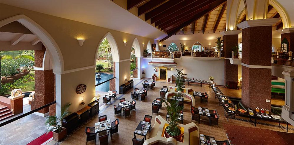 Lobby at Caravela Beach Resort, Varca, South Goa