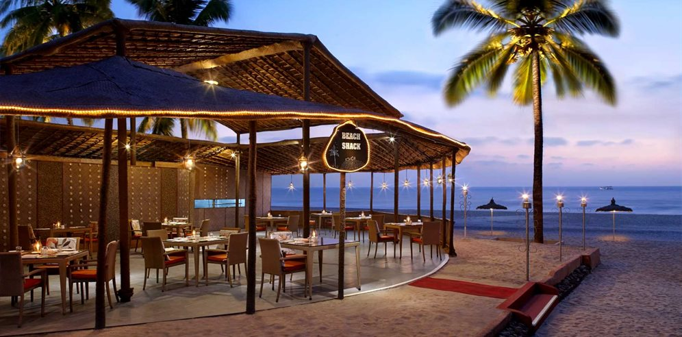 Beach shack at Caravela Beach Resort, Varca, South Goa