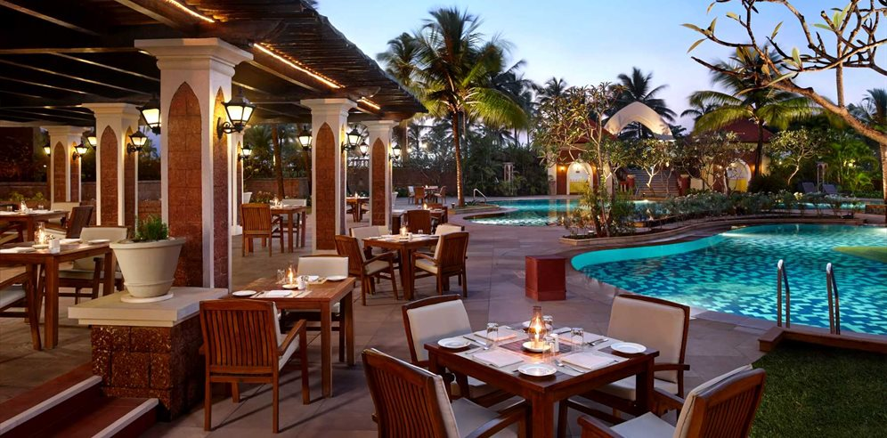 Castaways restaurant at Caravela Beach Resort, Varca, South Goa