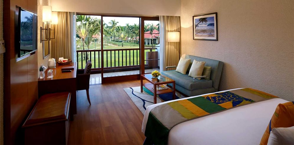 Garden view room at Caravela Beach Resort, Varca, South Goa
