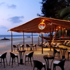 Sunset beach bar at Caravela Beach Resort, Varca, South Goa