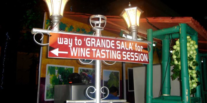 Wine Festival sign, Goa  - Fredericknoronha, Wikimedia Creative Commons
