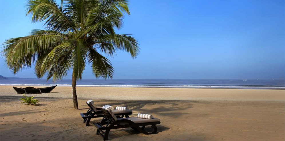 Beach at The Leela, Mobor, South Goa