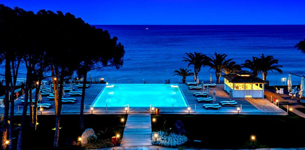 Pool at Night - La Villa del Re
