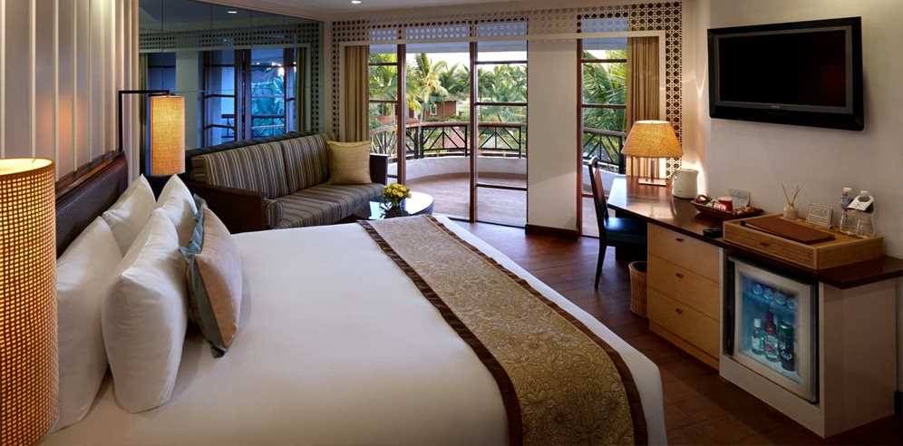 Deluxe room at Caravela Beach Resort, Varca, South Goa
