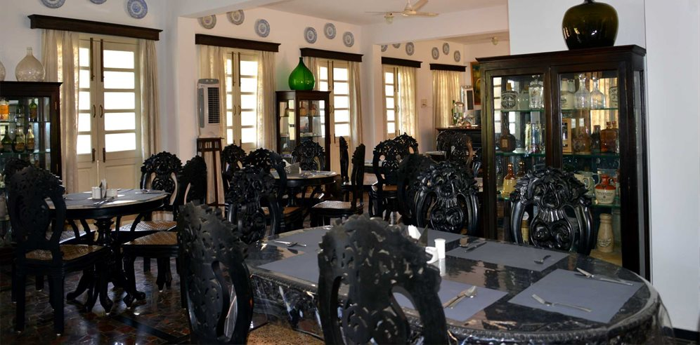 Breakfast area, Panjim Inn, Panjim, Central Goa