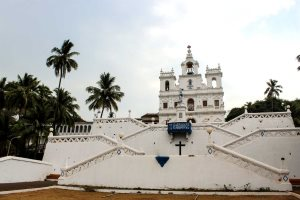 The Immaculate Conception Church in the old quarter of Panjim, Goa's capital city.