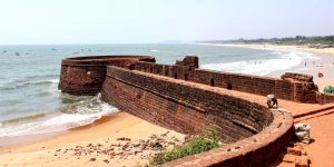 Sinquerim Beach and Fort Aguada in North Goa