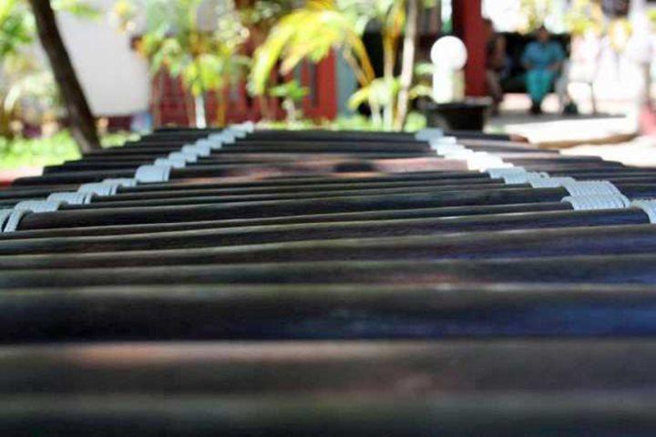 The balafon, an ancient west African musical instrument