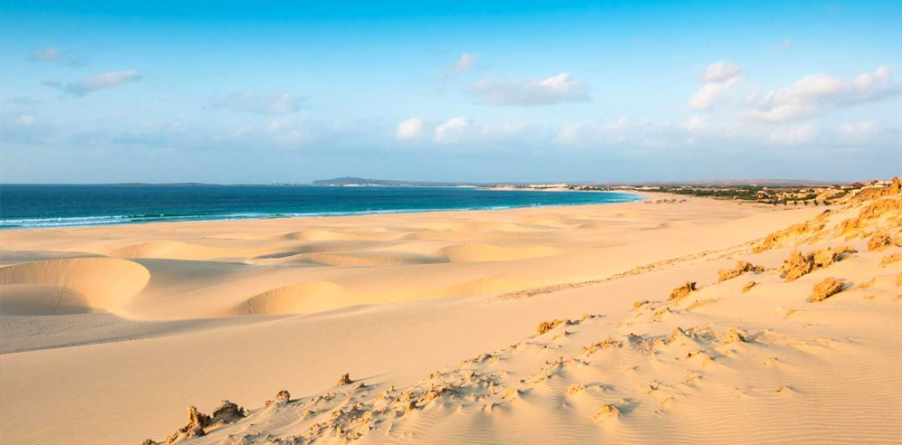 Sand dunes at Praia de Chaves beach, Boa Vista