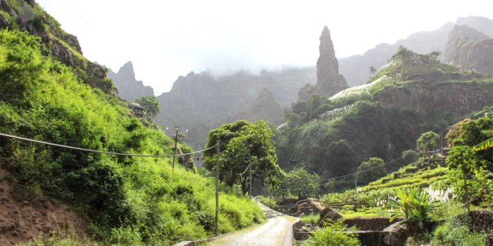 Mountainous landscapes in Santo Antao, Cape Verde