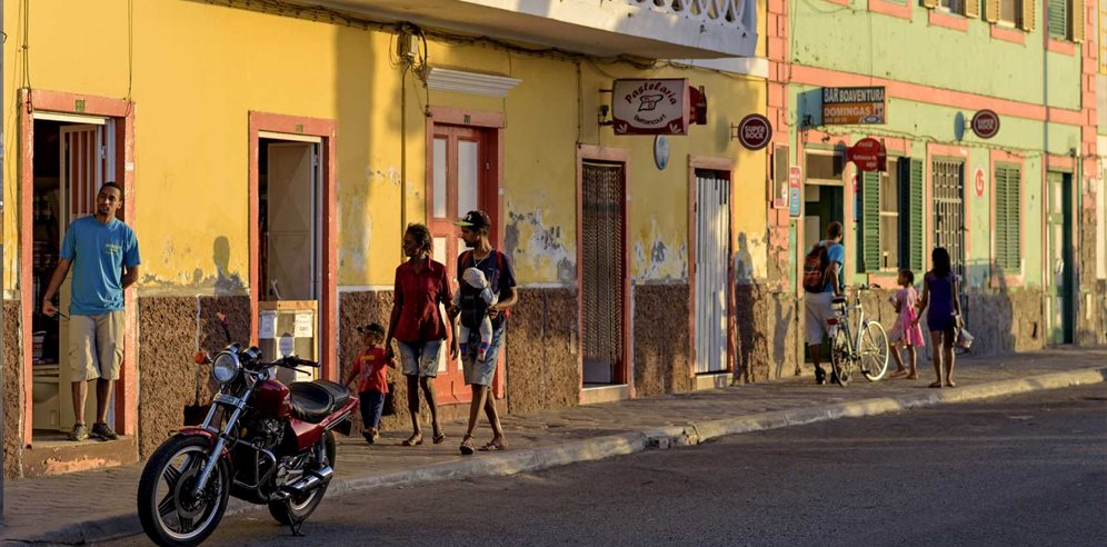 Colourful streets of Mindelo