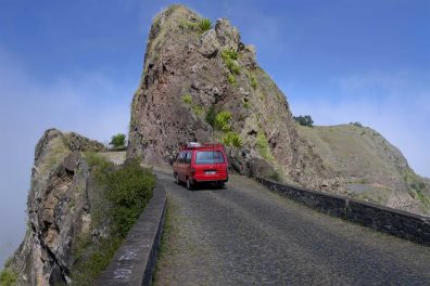Santo Antao mountain road, Cape Verde