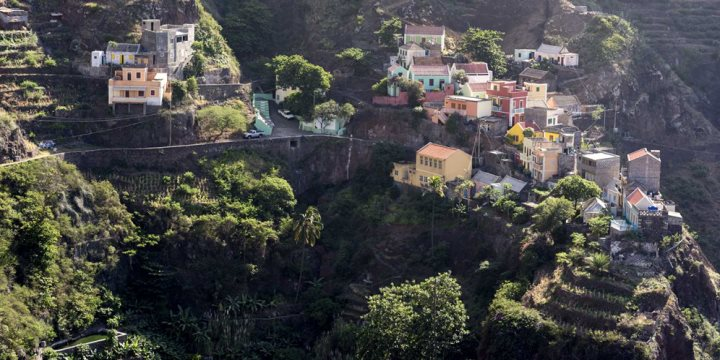 Santo Antao mountain houses, Cape Verde
