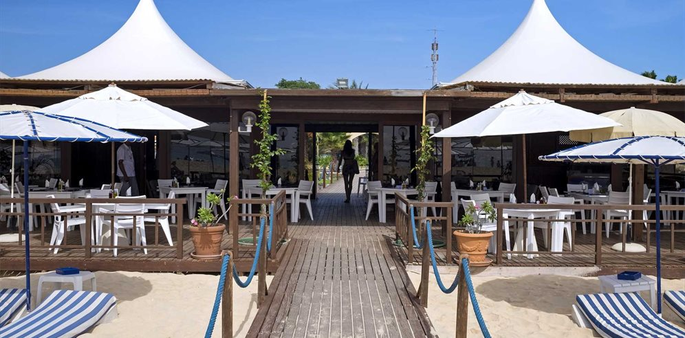 Walkway to Beach Club at Hotel Morabeza, Santa Maria, Sal