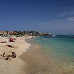 Santa Maria Beach on the island of Sal in Cape Verde