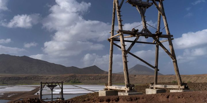 Salt Mines on the island of Sal, Cape Verde