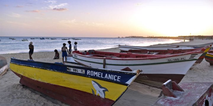 Boats on the island of Sal, Cape Verde