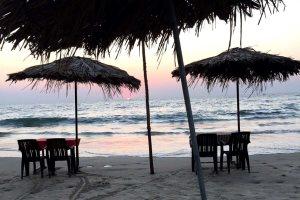 Majorda Beach at sunset