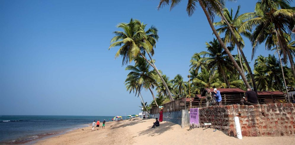 Golden sands and blue skies on Anjuna Beach