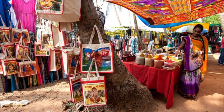 Various stalls around Anjuna Flea Market