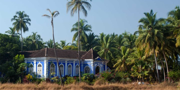 A typical colonial house in Goa
