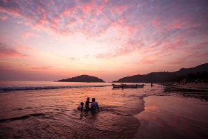 Palolem Beach sunset, south Goa