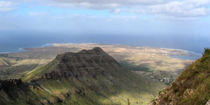 A view from Monte Verde on Sao Vicente, Cape Verde