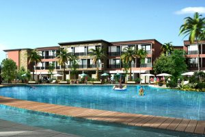 Artist impression - Pool area with pool bar