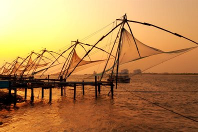 Chinese Fishing nets at sunset. Fort Kochi. Kerala. India - Elena Mirage | Shutterstock