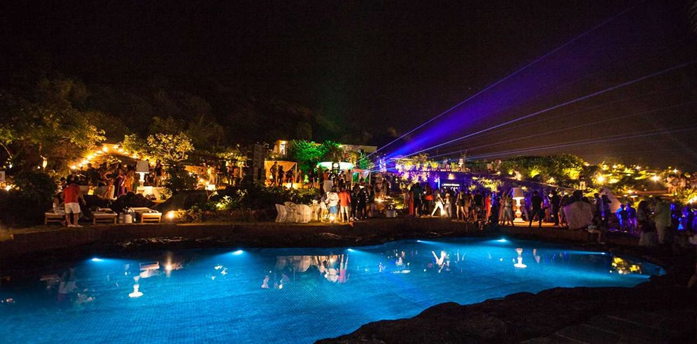 Nightlife at the Rock Pool, W Goa, Vagator, North Goa