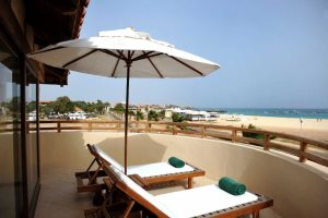 Executive suite balcony with views at Hotel Morabeza, Santa Maria, Sal