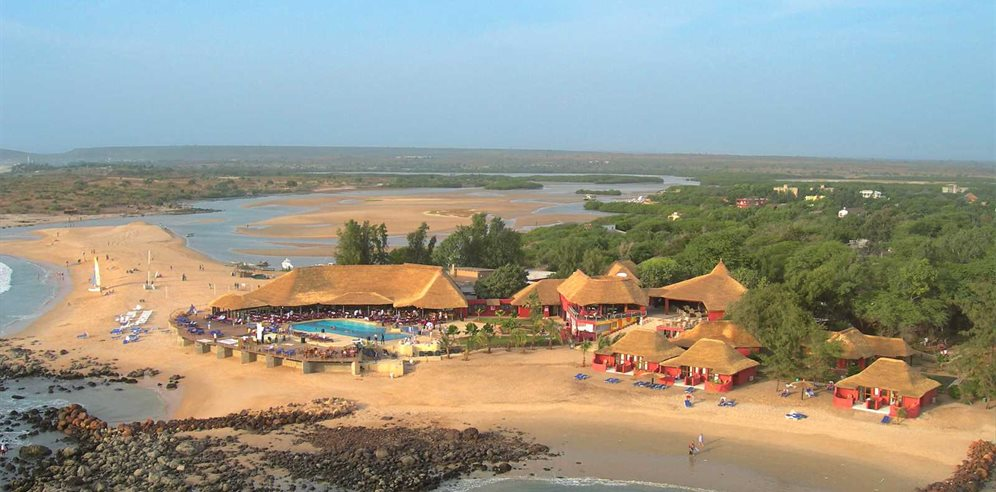 Aerial shot of Royal Horizon Baobab Hotel