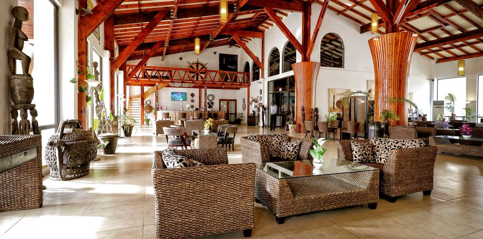 Reception at Ocean Bay Hotel, Cape Point, The Gambia