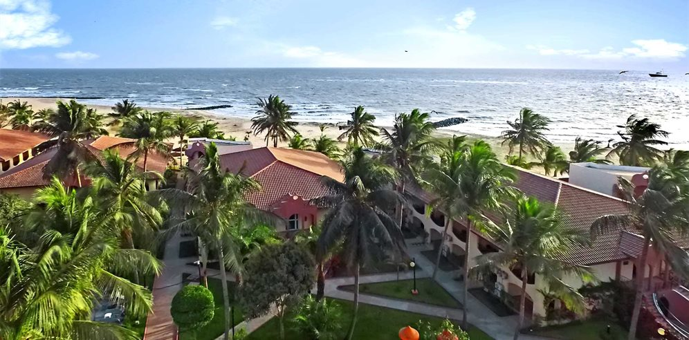Aerial view at Ocean Bay Hotel, Cape Point, The Gambia