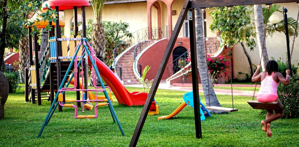 Play park at Ocean Bay Hotel, Cape Point, The Gambia