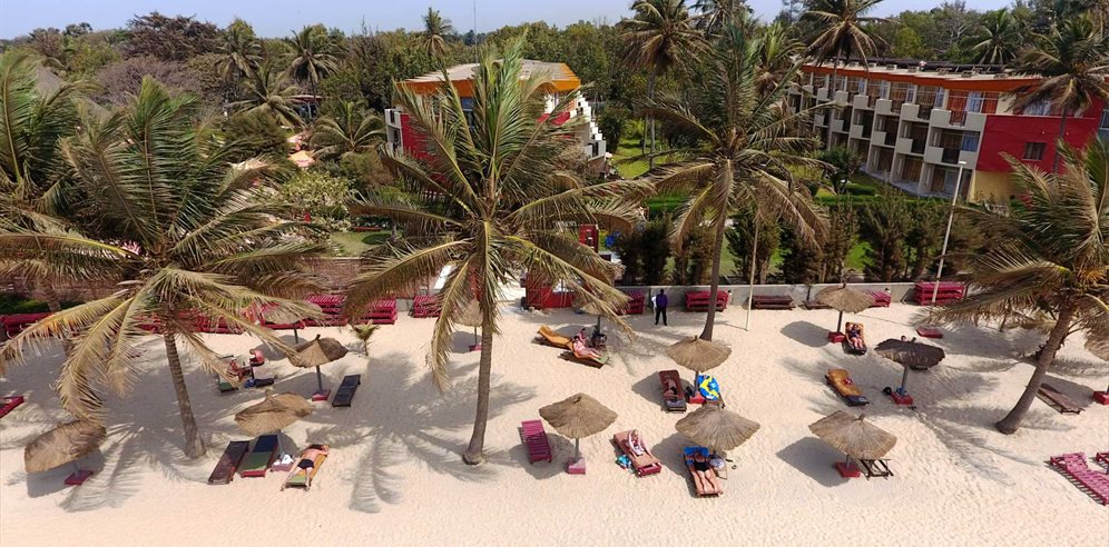Aerial view at Kombo Beach Hotel, Kotu, The Gambia