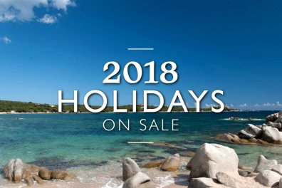 Promotional banner for 2018 Corsica holidays on sale