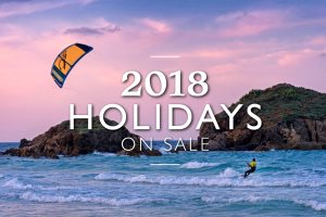 Promotional banner for Sardinia 2018 holidays