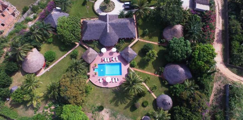 Aerial View at White Horse Residence, Batokunku, The Gambia